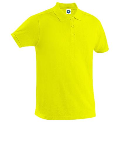 Poloshirt, gelb, Baumwolle
