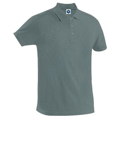 Poloshirt, grau, Baumwolle